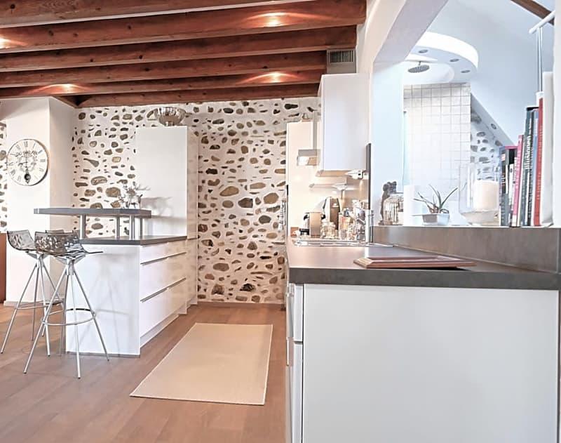 Magnifique loft  meublé / 1 chambre ouverte + mezza / Vue