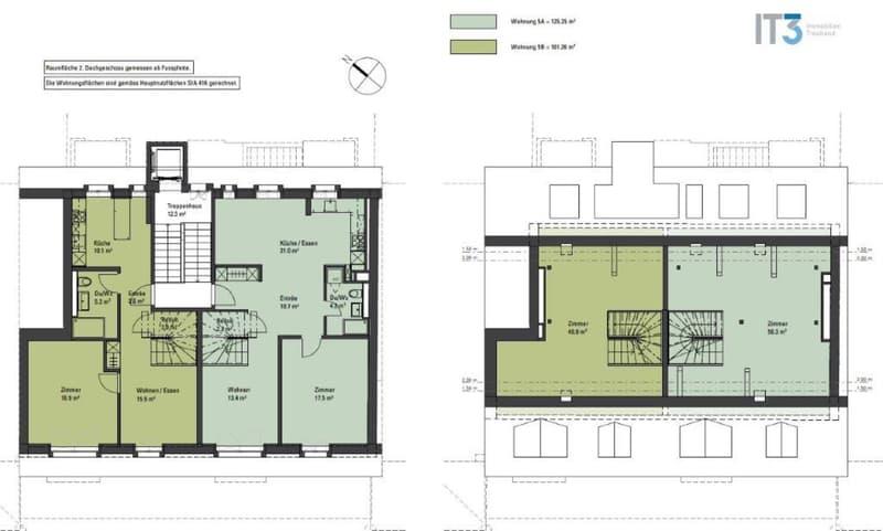 Erstvermietung: ruhig und zentral gelegene 3.5-Zi-Wohnung im Dachgeschoss zu vermieten!