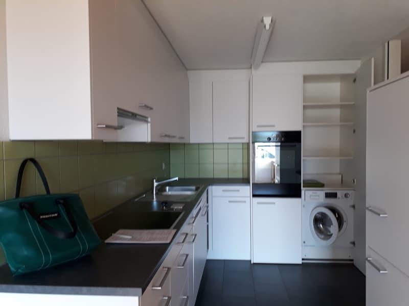 Küche mit Geschirrspüler und Waschmaschine/Tumbler (Kombigerät)