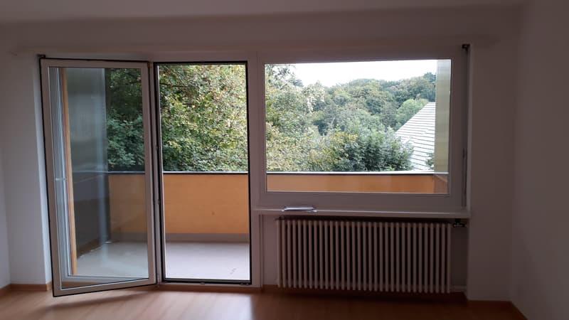 Wohnzimmer 20 m2 mit Balkon