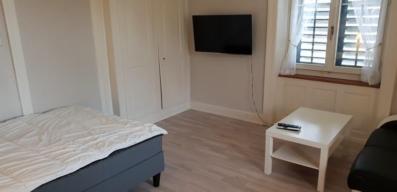 Möblierte Zimmer im Bahnhöfli Urdorf.