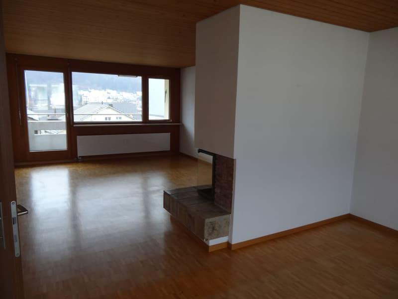3.5-Zimmerwohnung mit Cheminée zu vermieten