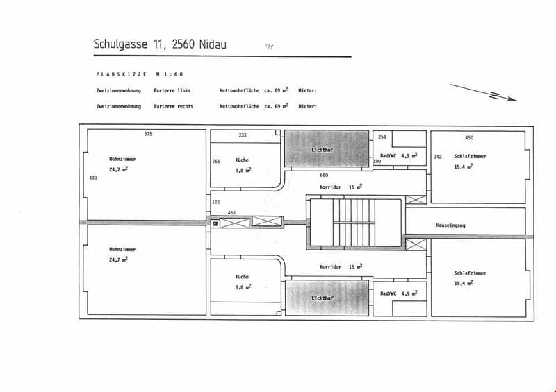 grosszügige 2.5-Zimmerwohnung im Städtli Nidau