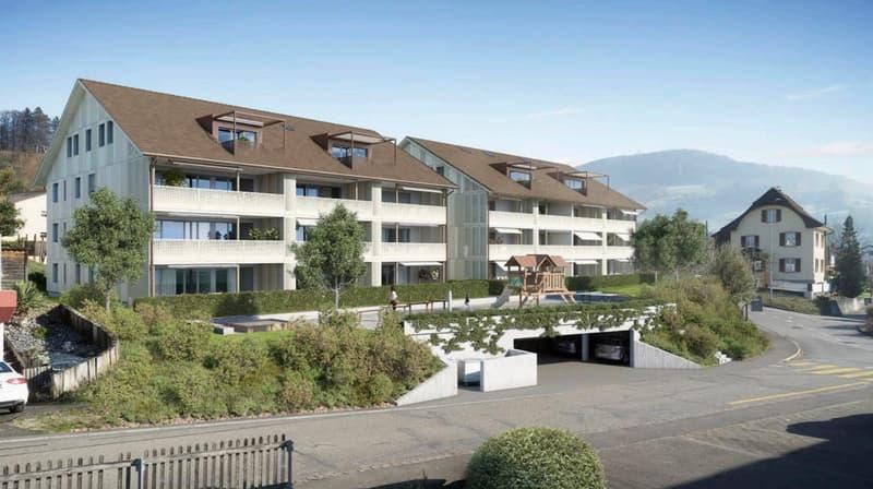 Neubau 4,5 Zimmer Wohnung in ländlicher Gegend (1)