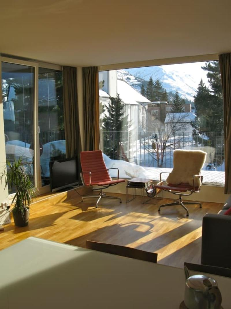 Beautiful top floor apartment by the river in central and historical Andermatt