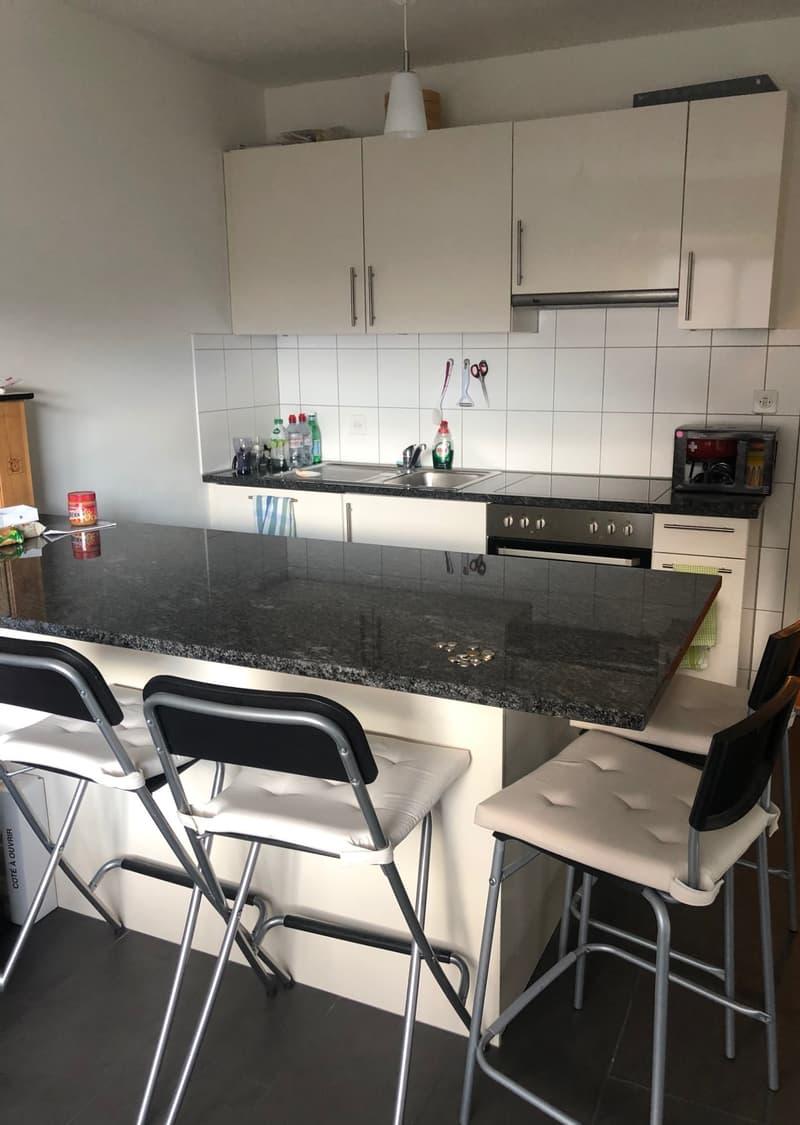 Moderne 1.5 - Zimmerwohnung mit grosser Küche und Geschirrspüler