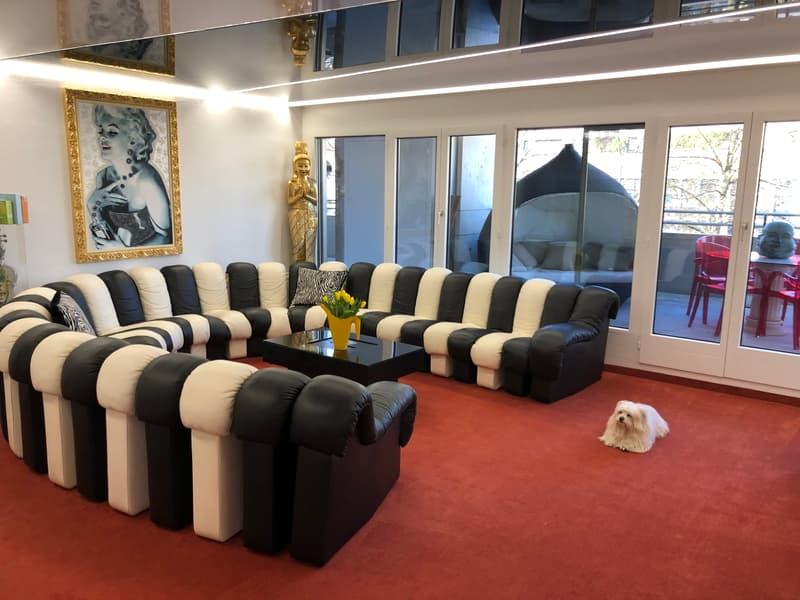 WOHNZIMMER (Sofa inzwischen schwarz)
