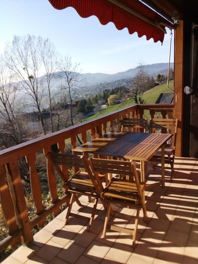 Magnifique 2,5p meublé / 1 chambre / Balcon et vue superbe sur le lac