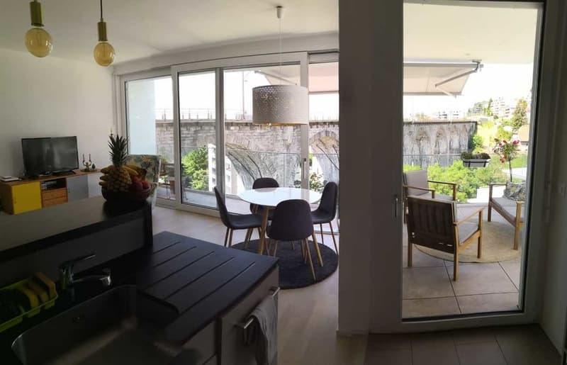 Appartement de 2 pièces au 2ème étage avec balcon