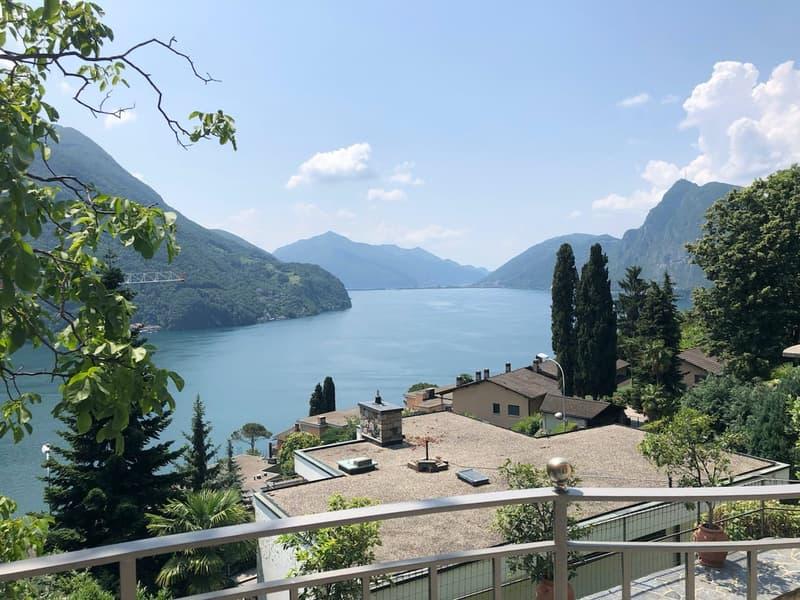 Ruvigliana, villa mediterranea con ampia vista lago
