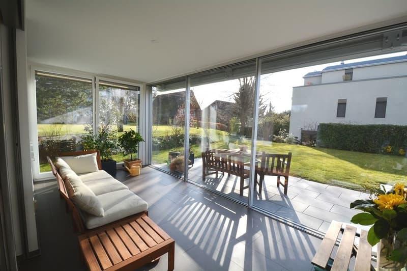 Sehr helle, moderne Gartenwohnung mit Büro in sehr schönen Umgebung
