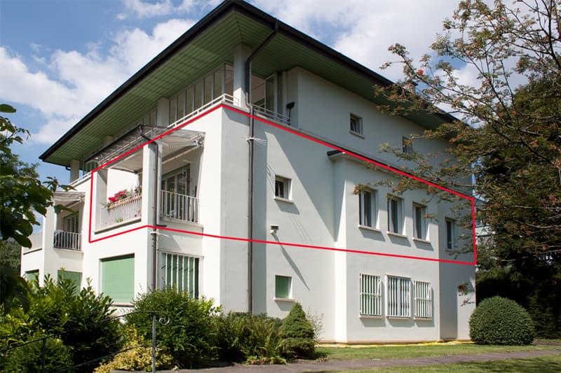 1.5-Zimmer-Geschosswohnung mit 49qm in einer Villa im Park - zentral in Binningen