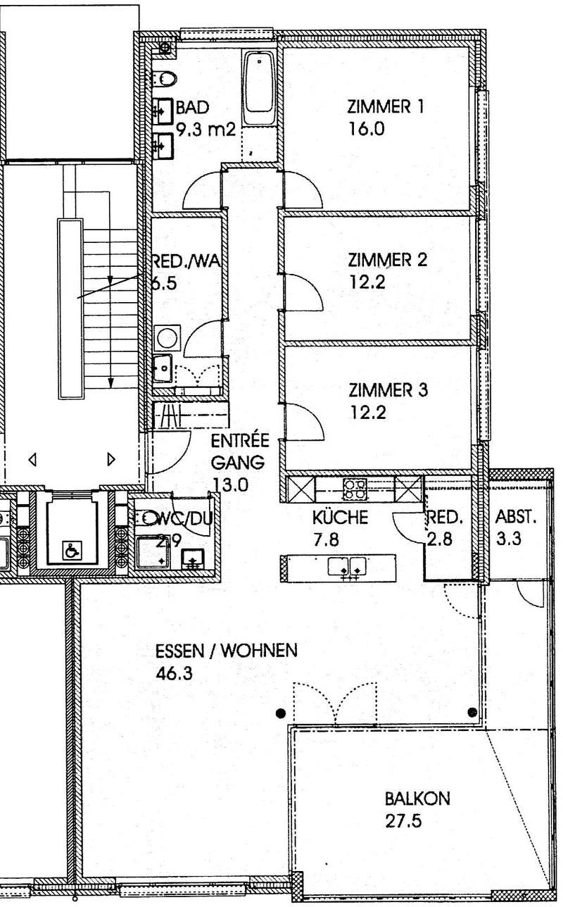 Eigentumswohnung an unverbaubarer Lage mit Aussicht ins Grüne (3)