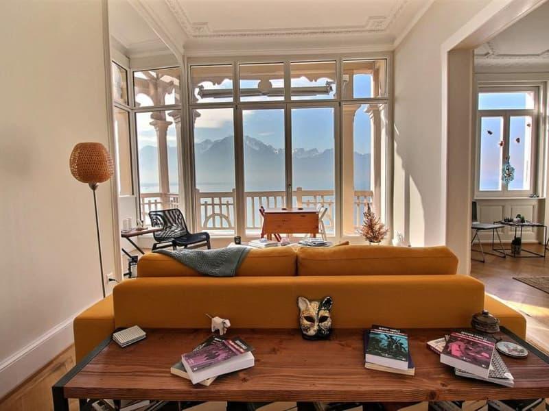 Charmant appartement de 4.5 pièces avec vue sur le lac, Territet