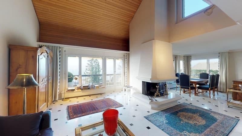 Traumhafte Maisonettewohnung mit Sicht über Zürich!