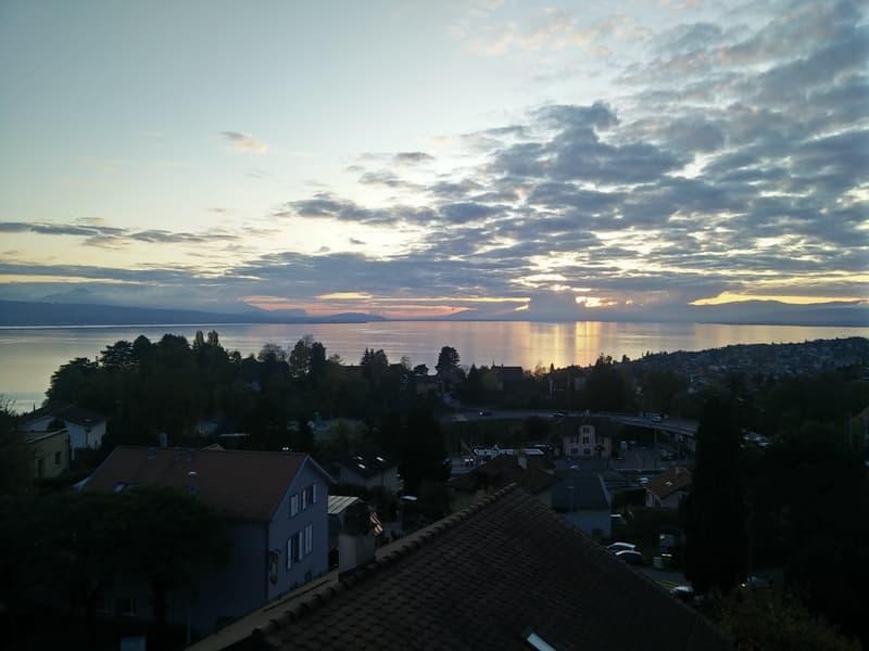 À 15 min. de Lausanne Centre - 4,5 pièces avec vue sur le lac