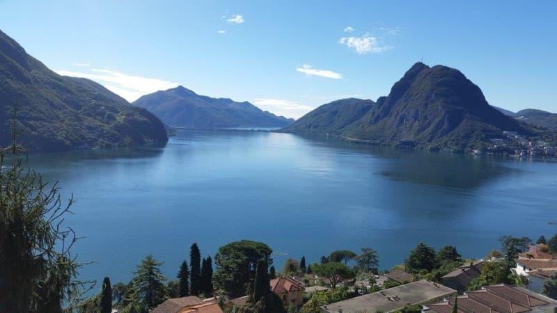 3,5 locali con meravigliosa vista lago a Ruvigliana