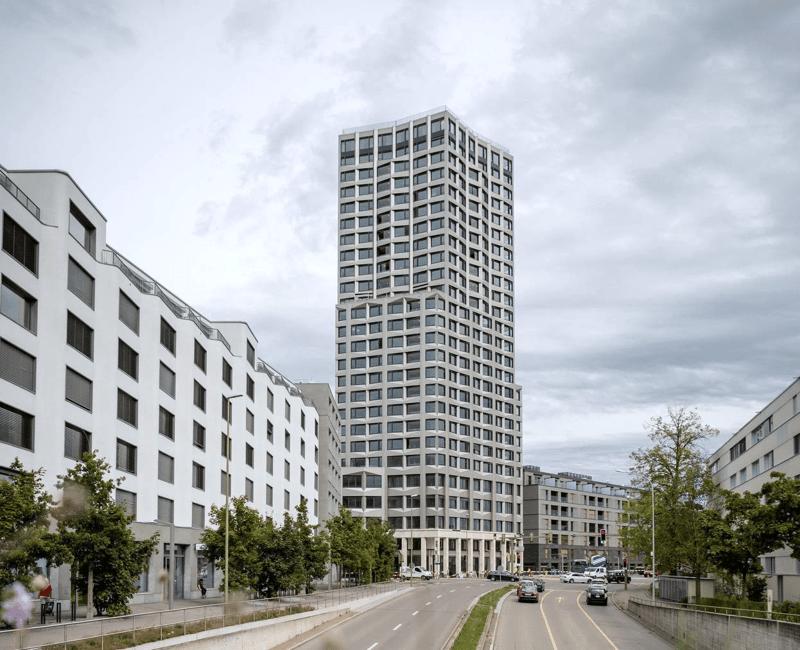 Modernes Wohnen im Wolkenkratzer