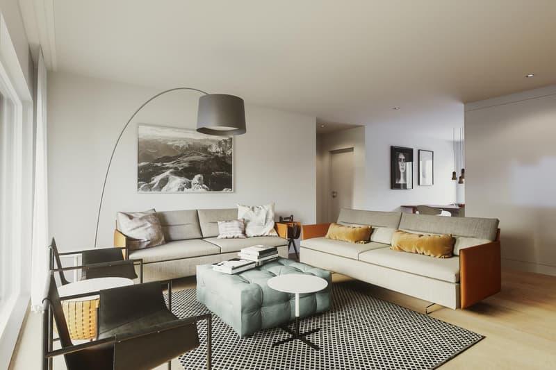 Grosszügiges und helles Wohnzimmer