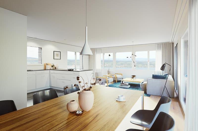 Traumhaftes Wohnzimmer mit Weitblick