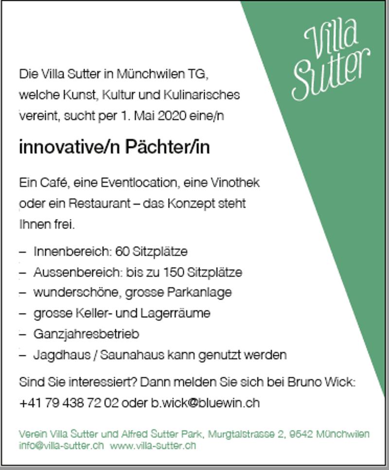 Die Villa Sutter in Münchwilen TG zu vermieten