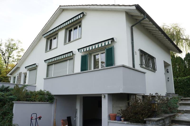 Villa individuelle avec grand jardin et appartement de 2 pièces indépendant à Genthod