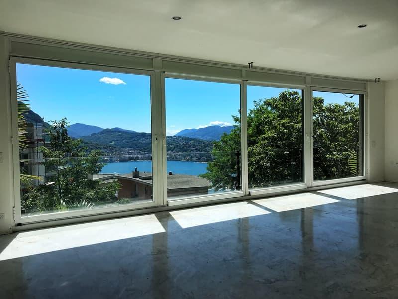 Villa con vista sul golfo di Lugano