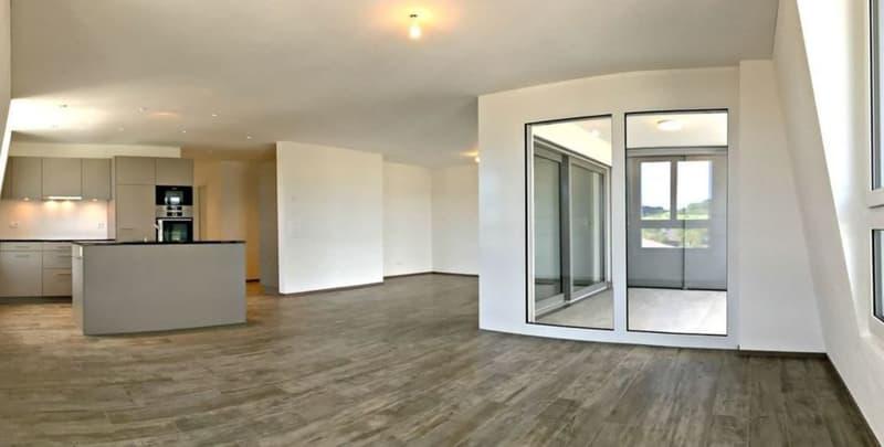 3.5-Zimmer Attika mit grosser Weitsicht und Bergsicht und grossem Balkon