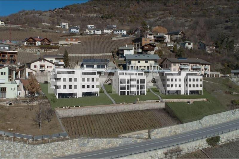 Neubauwohnung mit einmaliger Aussicht aufs Rhonetal!