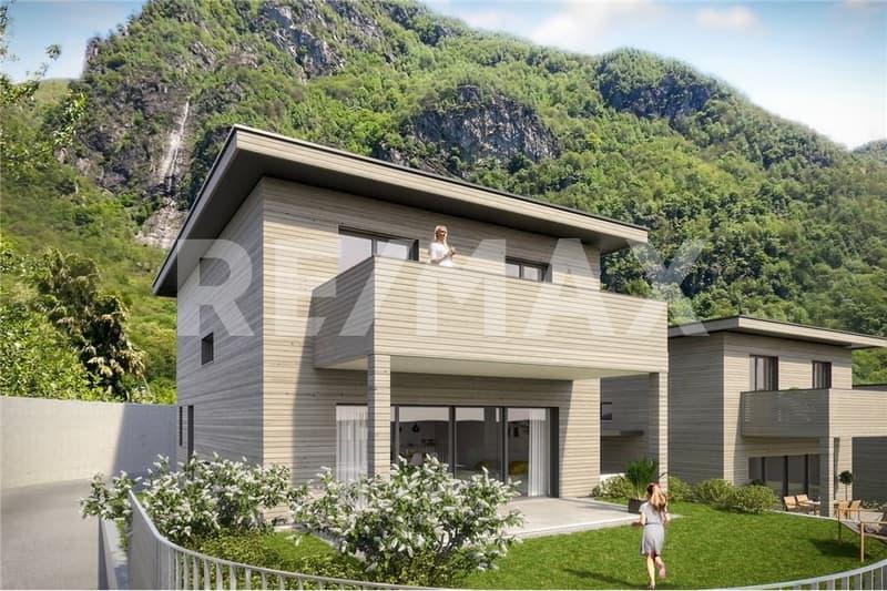 Freistehendes Einfamilienhaus in ökologischer Bauweise mit 5,5 Zimmern und 155 qm Wfl