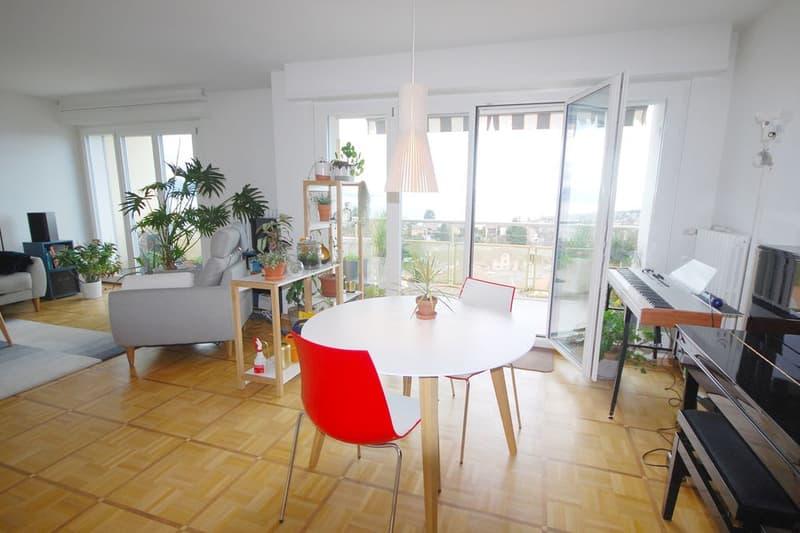 Bel appartement de 4.5 pièces avec vue sur le lac et les Alpes