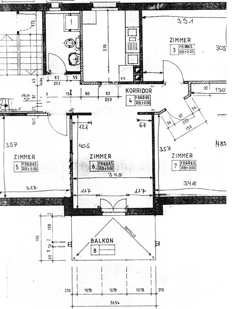 Moderne 4-Zimmer Wohnung mit Balkon (2)