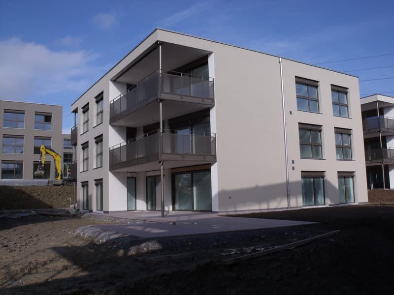 Erstbezug - grosse lichtdurchflutete 4,5- Zimmer- Wohnung im 1. OG in schön angelegtem Wohnquartier