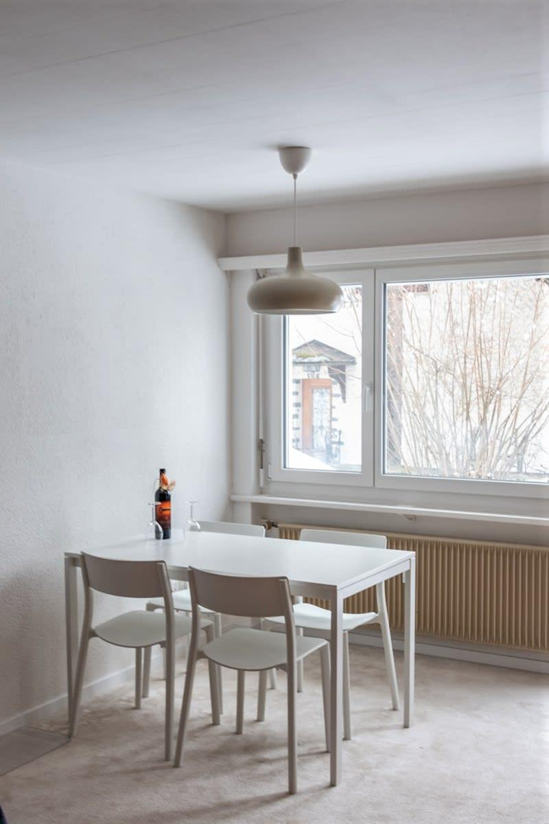 «Flims Dorf - Helle und Zentrale Moblierte 1.5 Zi-Wohnung mit Garten