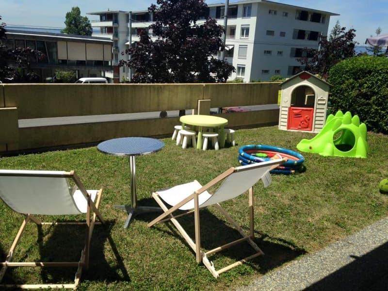 A remettre au 15 avril : 4.5 pièces avec jardin à Lausanne (1)