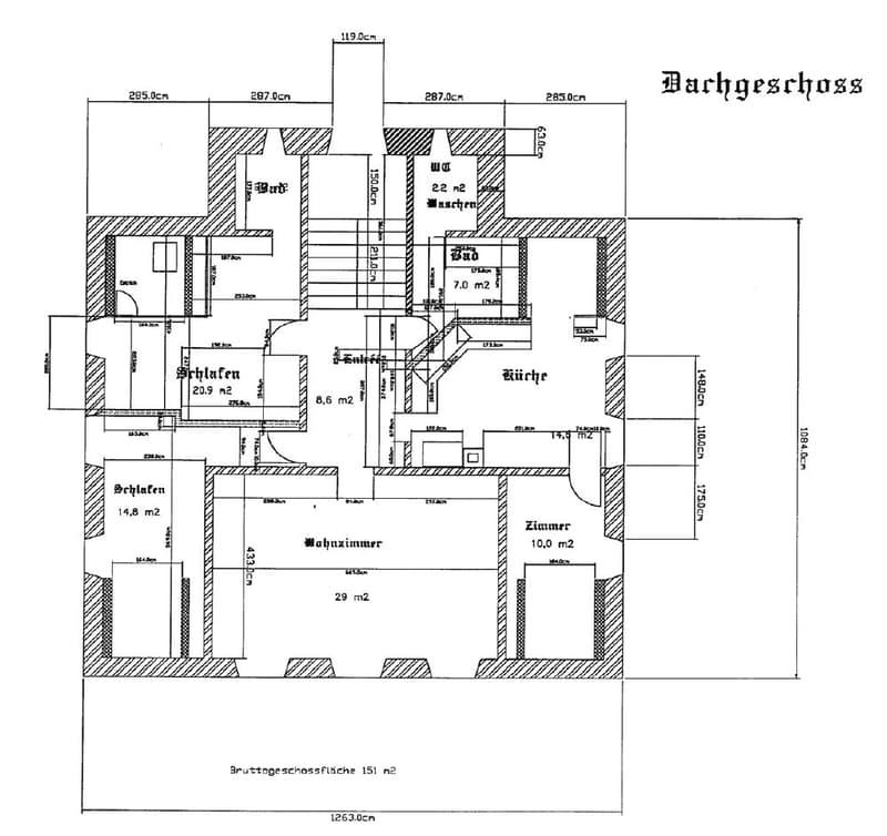 Maisonette Dachwohnung 4.5 + 3 im zweiten und dritten Dachgeschoss