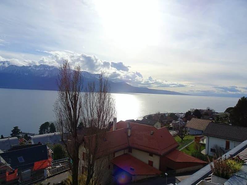Vue panoramique sur le Lac et les Alpes, état neuf, dans les vignes, à proximité immédiate de Corseaux