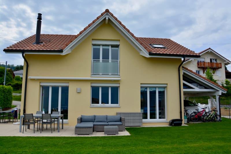 Villa individuelle avec magnifique vue sur le lac et les Alpes