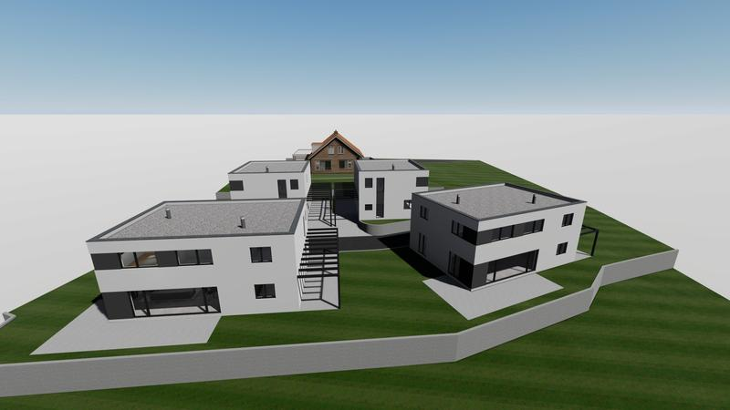 Neubau von 4 EFH an ruhiger Lage