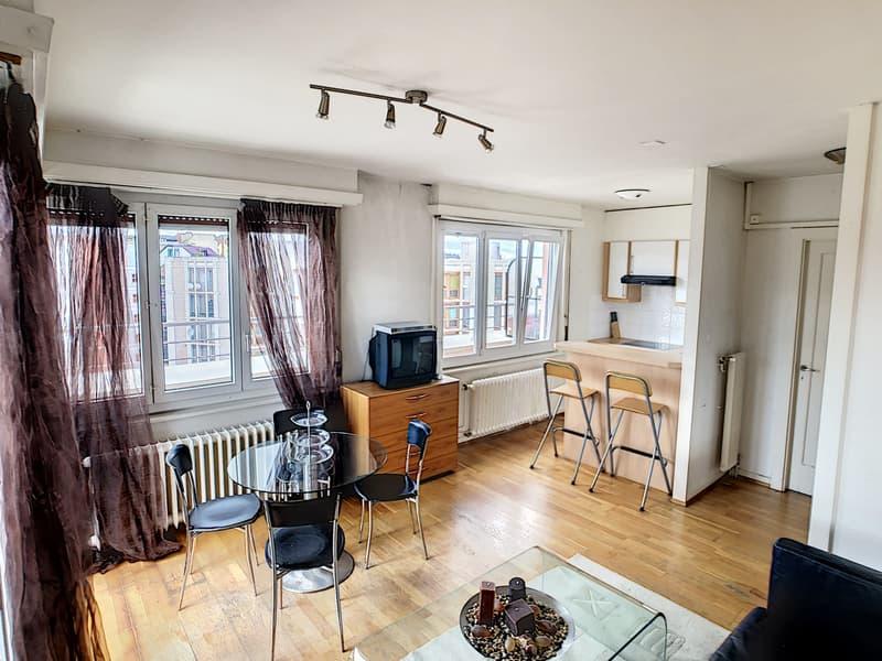 Studio meublé avec terrasse panoramique en plein centre ville (1)