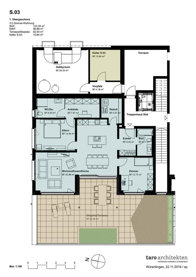 «Terrassenwohnung 1. Obergeschoss, Büntacher Sulz» (4)