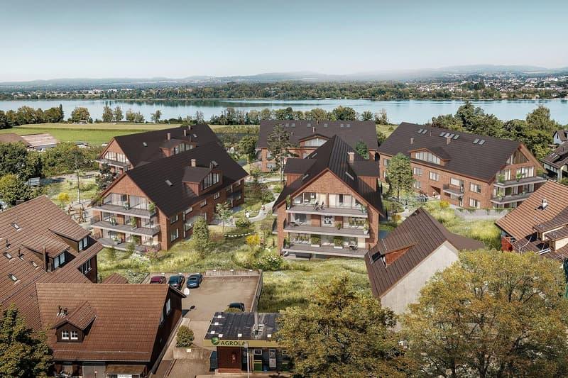 Erstvermietung Neubau: 4.5-Zimmer Maisonettewohnung im freundlich anmutenden Dorfkern von Maur