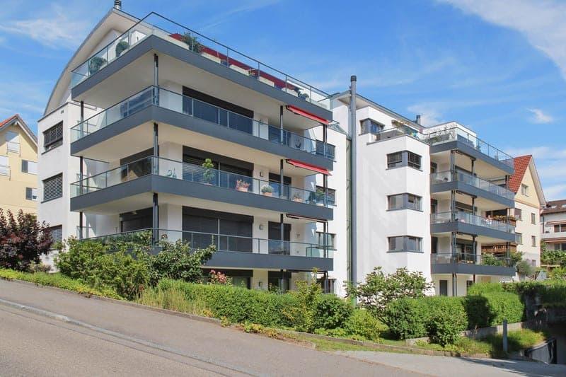 Wohnung mit grossem Balkon und Garten