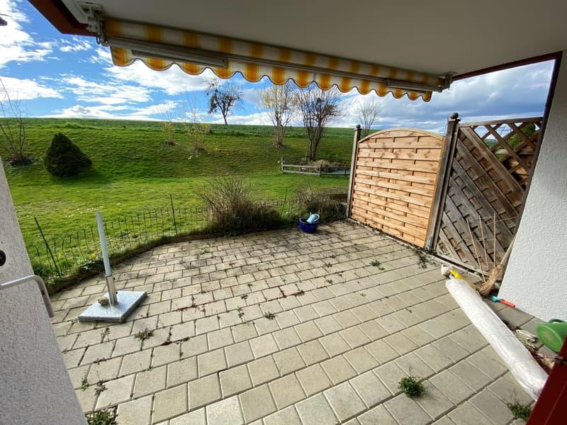 Betreibungsamtliche Grundstücksteigerung 2.5-Zimmer EG-Wohnung mit Gartensitzplatz