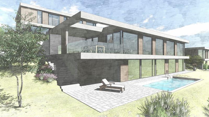 Planen Sie mit uns an top Panoramalage! Grundstück mit Architekturprojekt (1)