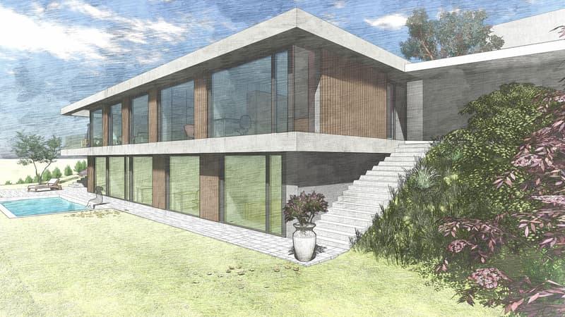 Planen Sie mit uns an top Panoramalage! Grundstück mit Architekturprojekt (2)