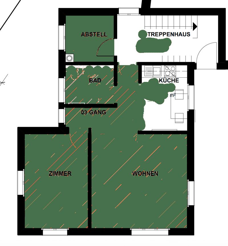 Nachmieter gesucht für moderne 2-Zimmer-Wohnung ab sofort in Gams (1)