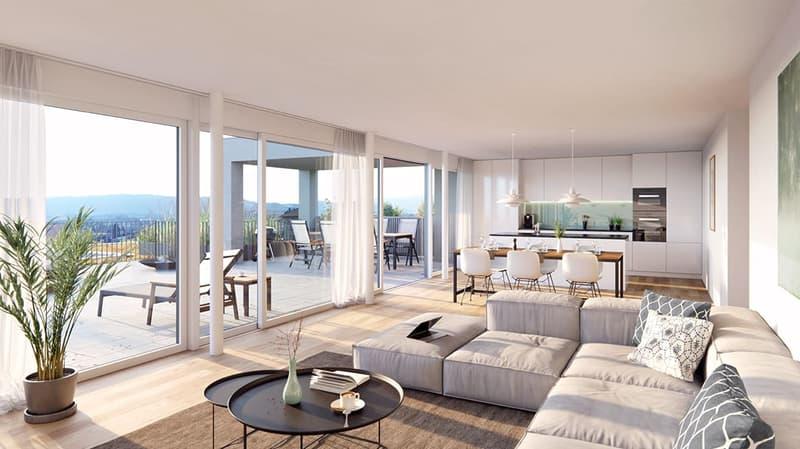 Attika-Maisonette-Terrassenwohnung an fantastischer Aussichtslage! (2)
