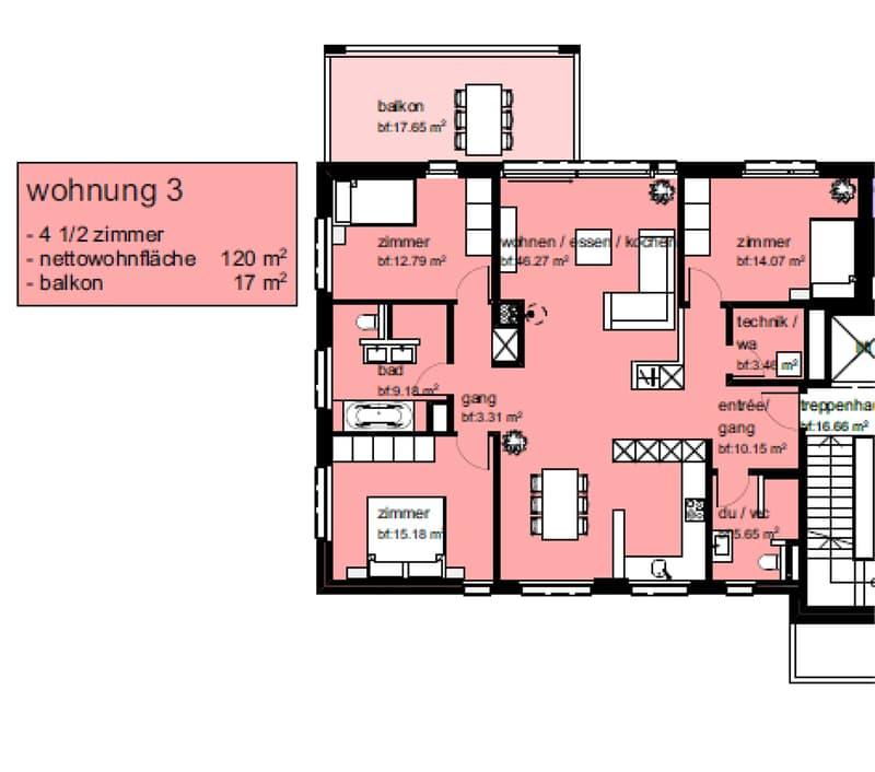 Helle, moderne 4.5 Zimmerparterrewohnung in Wohnquartier (2)