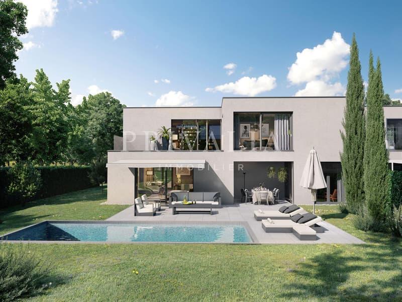 Projet neuf : villa contemporaine de haut standing sur le plateau de Pinchat